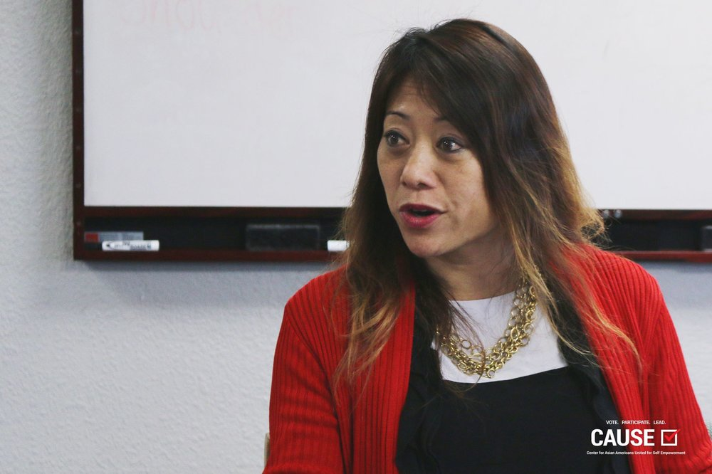 Fiona Ma speaking to the 2017 CAUSE Leadership Academy