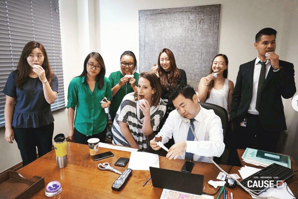 Ice Cream Day at David Ryu's office with 2017 CAUSE Leadership Academy Intern, Olivia Zheng