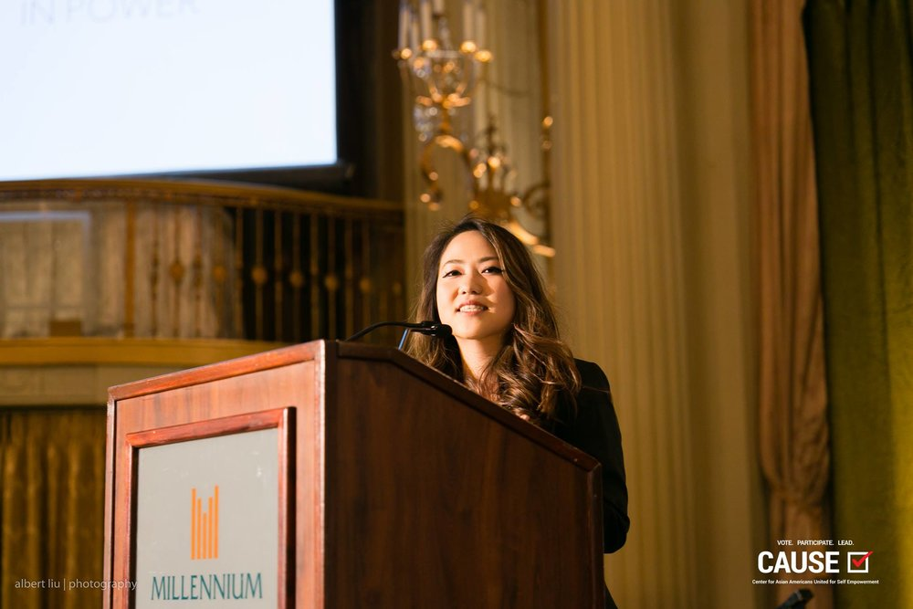 Kim Yamasaki speaking at the 2017 Women in Power Leadership Conference