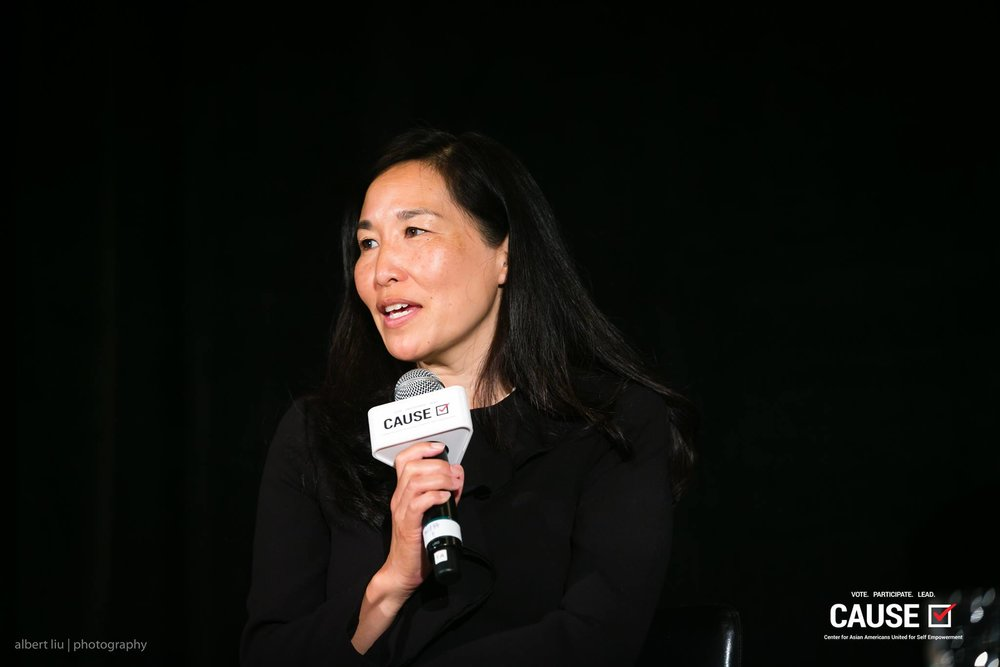 Sachi Hamai speaking at the 2017 CAUSE Women in Power Leadership Conference
