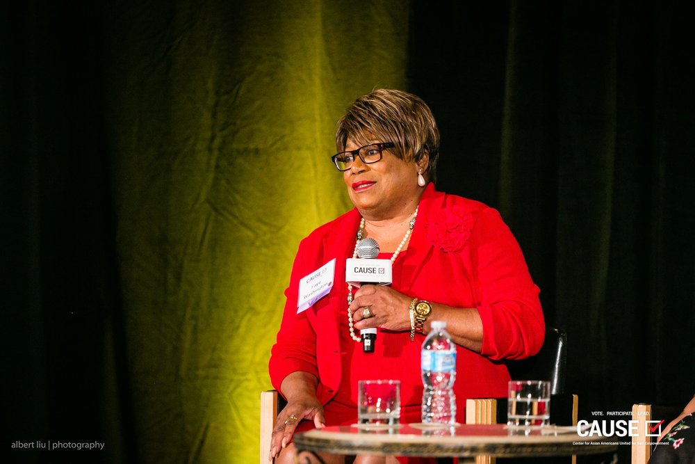 Faye Washington speaking at the 2017 CAUSE Women in Power Leadership Conference