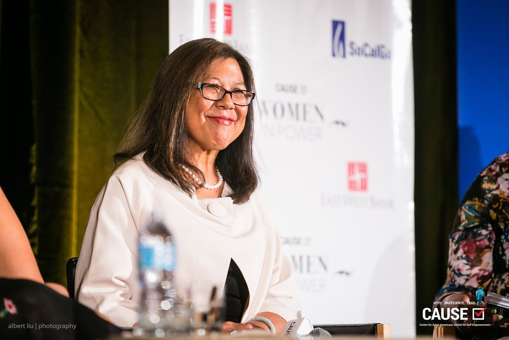 Betty Yee speaking at the 2017 CAUSE Women in Power Leadership Conference
