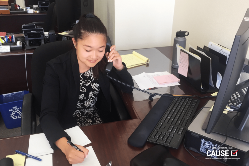 Sabrina Inoue at the office of Assemblymember Al Muratsuchi, 2017 CAUSE Leadership Academy