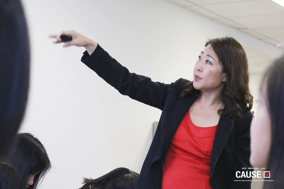 Hyepin Im speaking to the 2017 CAUSE Leadership Academy