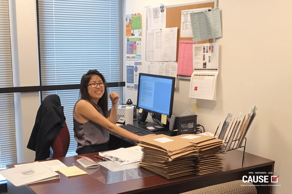 Hanah Lee at Senator Ed Hernandez's office, 2017 CAUSE Leadership Academy