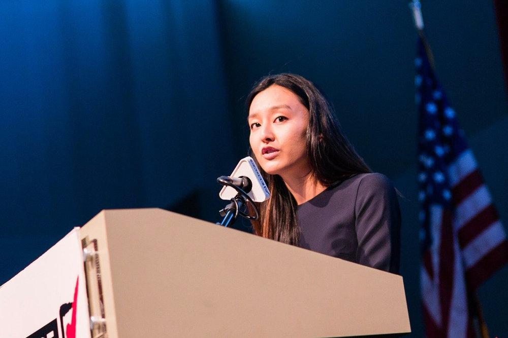 Monica Lee at the 2016 CAUSE Leadership Academy Graduation