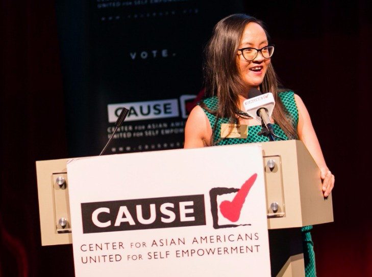 Tammy Tran speaking at the 2016 CAUSE Leadership Academy Graduation