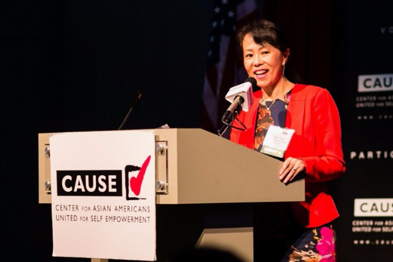 Annie Yee speaking at the 2016 CAUSE Leadership Academy Graduation