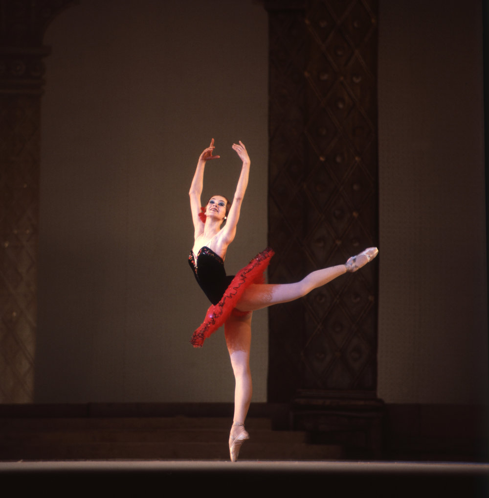Ms. Valentina Kozlova performing in the Act III  pas de deux  from  Don Quixote