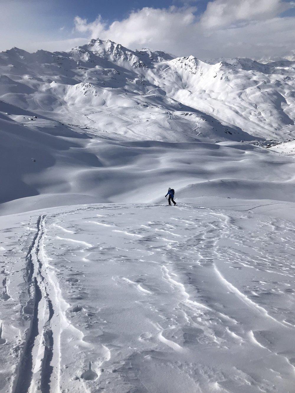 Kleine Freeride-Tour in Richtung Mont du Borgne (Foto: Tom Pellny)