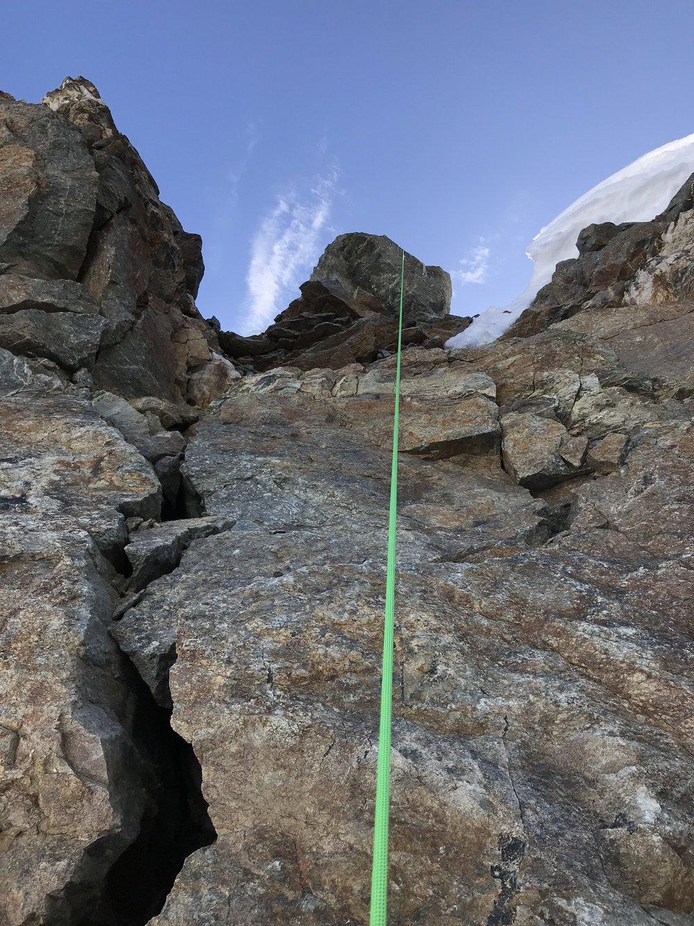 Abseilen Corvatsch North Face