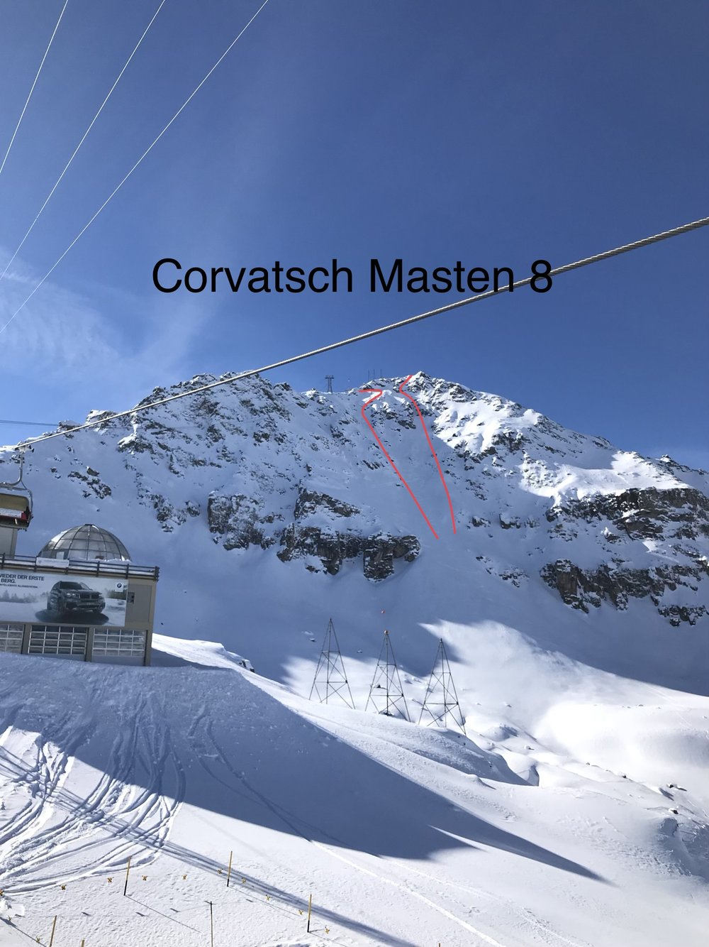 Corvatsch North Face vom Sessellift