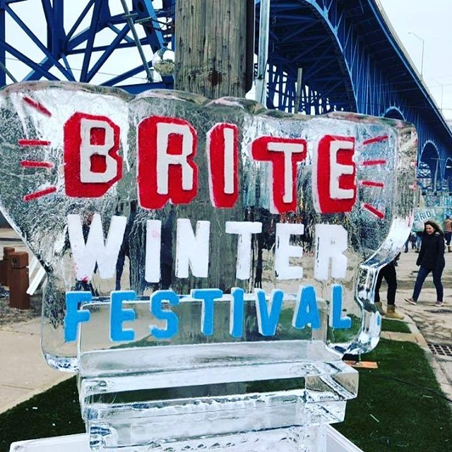 Don't forget to stop ang get your #burrito fix @britewinter serving till we sell out!!!!!! #mexicanfood #burritobowl #guacamole #queso #cle #cleveland #britewinter2019 and check out our sister truck @funkytruckeria by the entrance