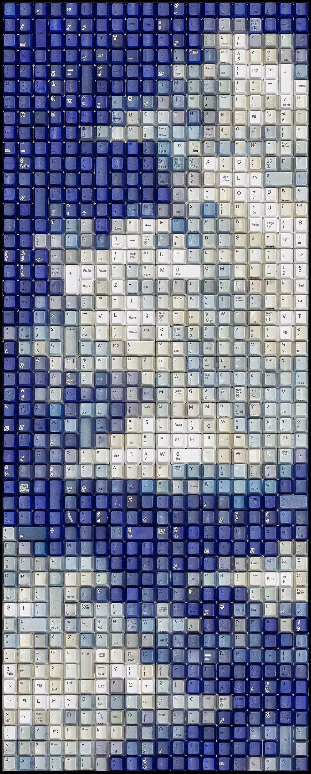 BLUE    15 x 36 in   ORIGINAL (SOLD)     PRINTS