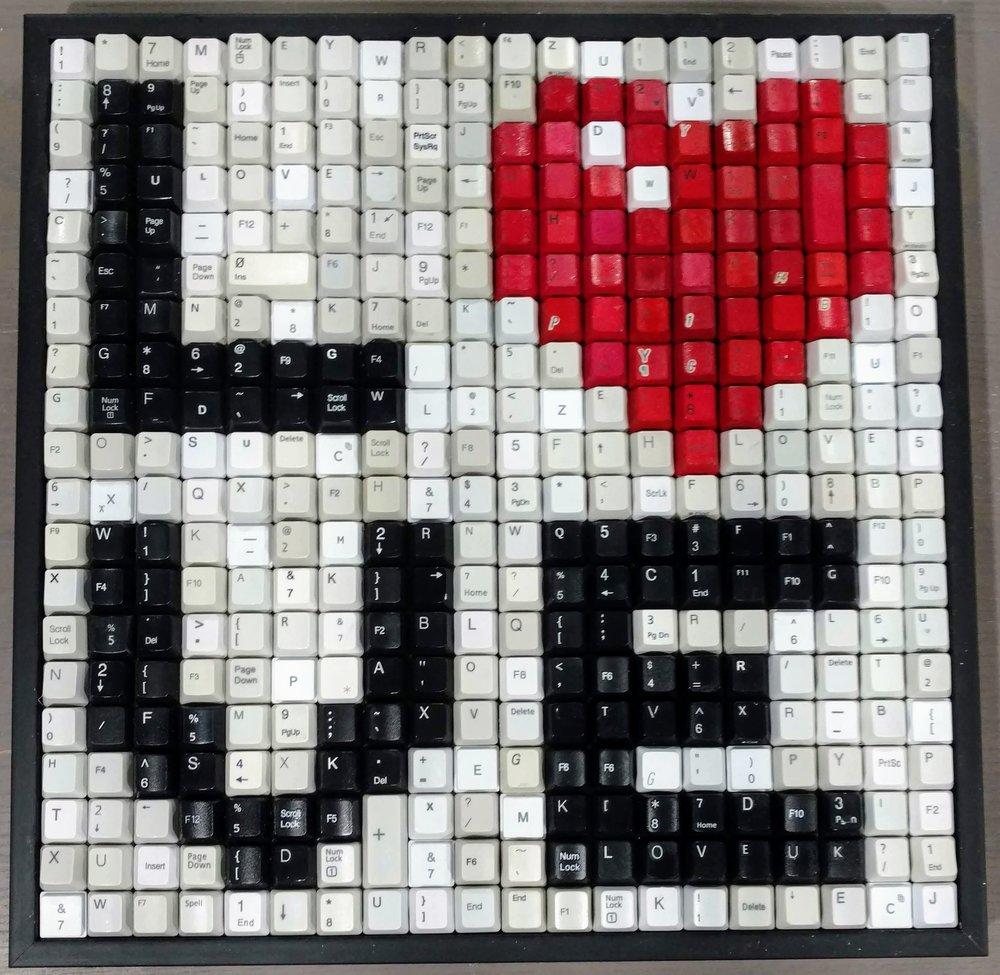 LOVE - WHITE BACKGROUND  | 15 X 15 in   ORIGINAL