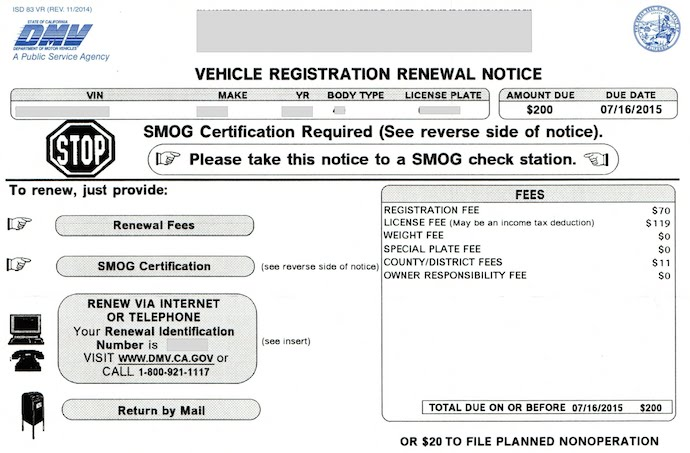 Vehicle Registration Renewal Ca >> How To Put Your Vehicle On A Pno Status Aaaa Auto Storage Park