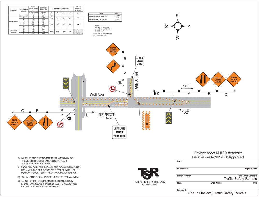 TRAFFIC CONTROL PLANS - TSR provides consulting services and customized traffic control plans to fit the most challenging projects.We provide engineer and non-engineer stamped traffic control plans. Just give us a call so we can help you.If you need a traffic control drawing made for one of your jobs please send an email to the following:trafficplans@tsrentals.com