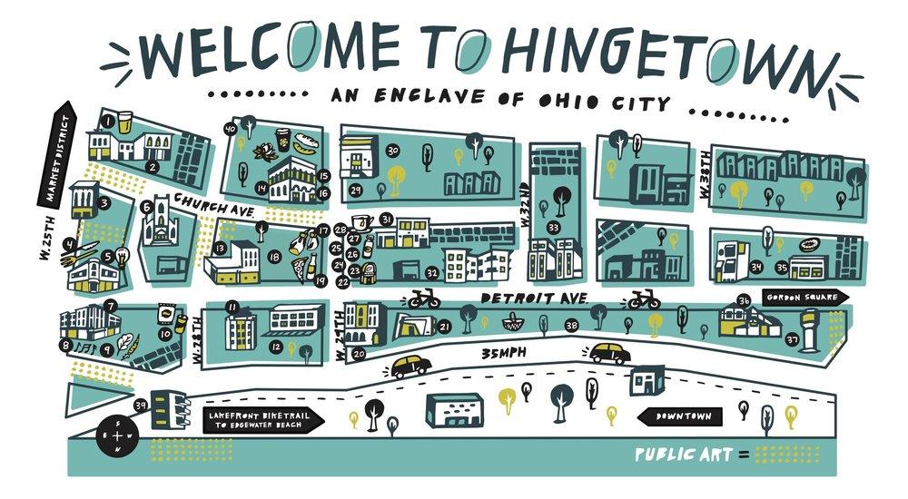 Hingetown area map