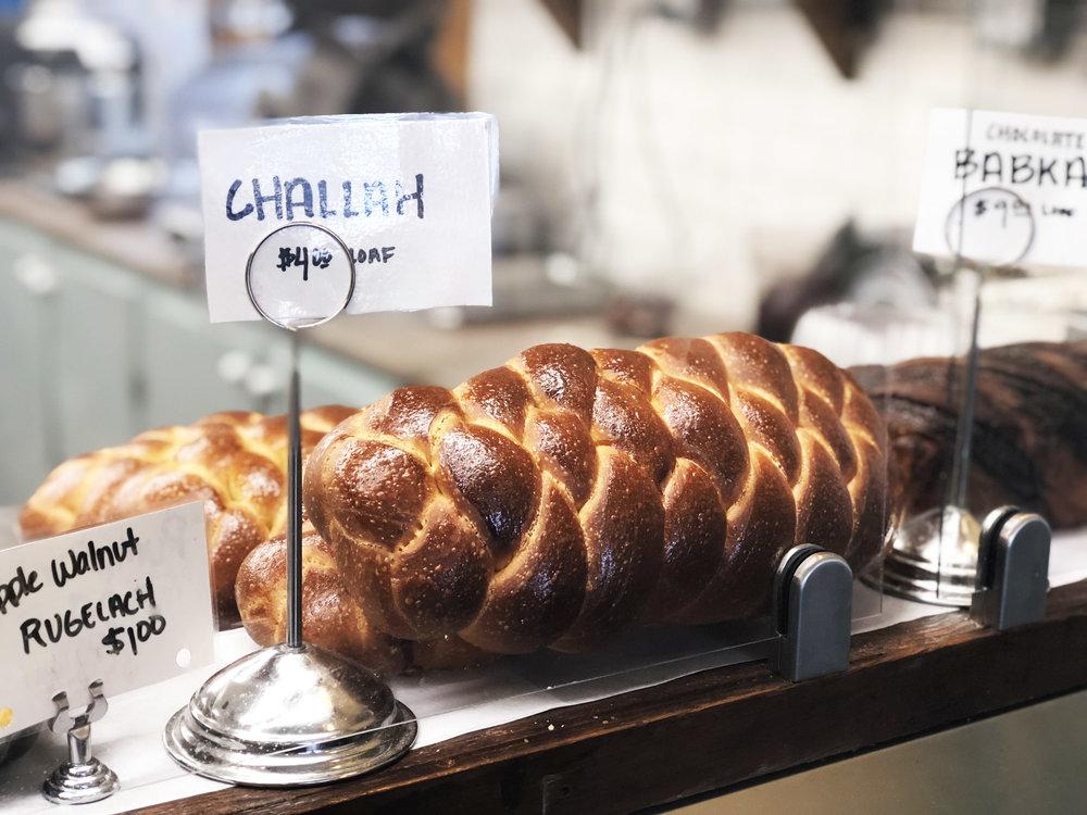 Challah bread at Larder Delicatessen