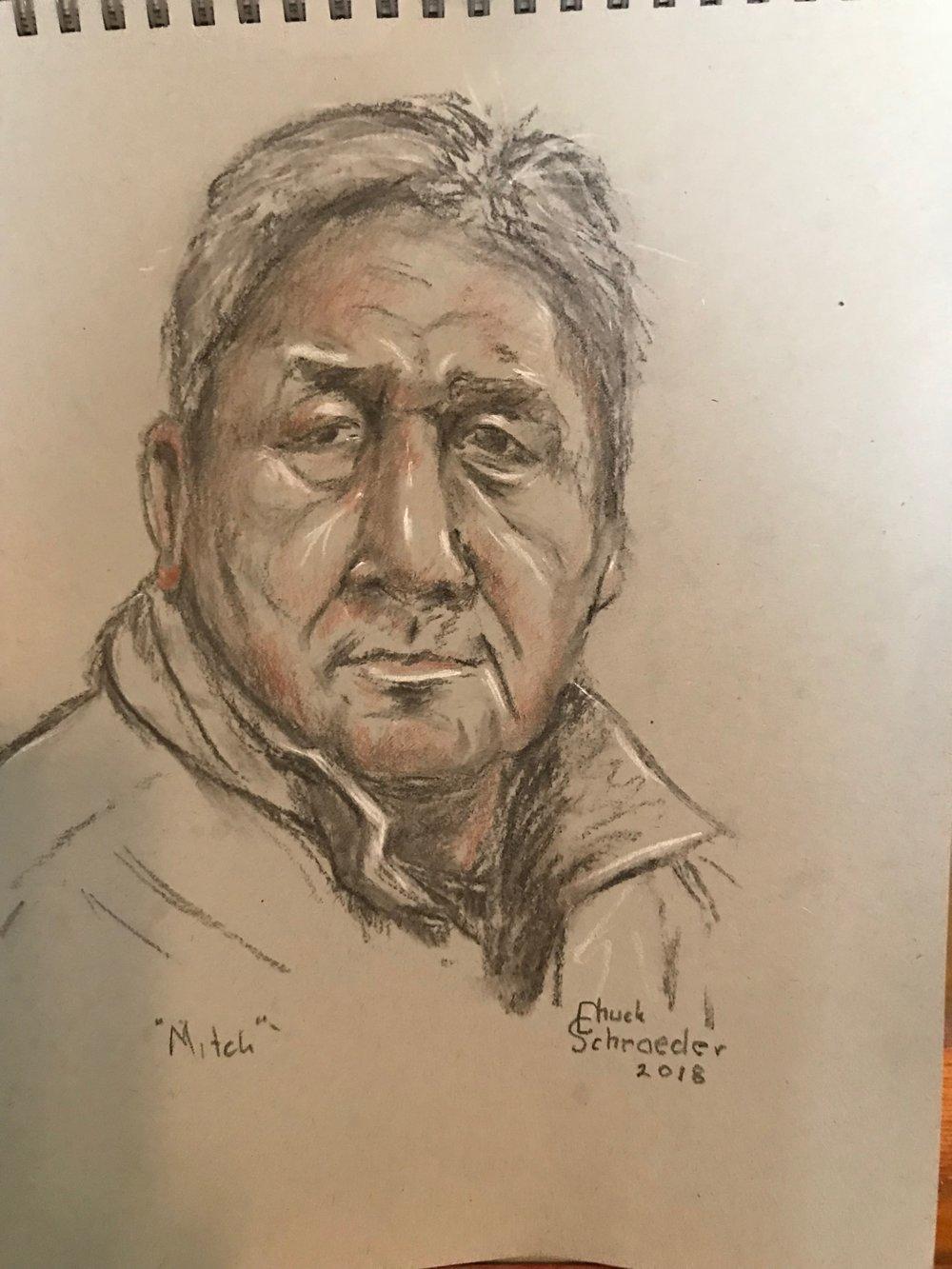 Chuck Schroeder - Mitch Parker small drawing.JPG