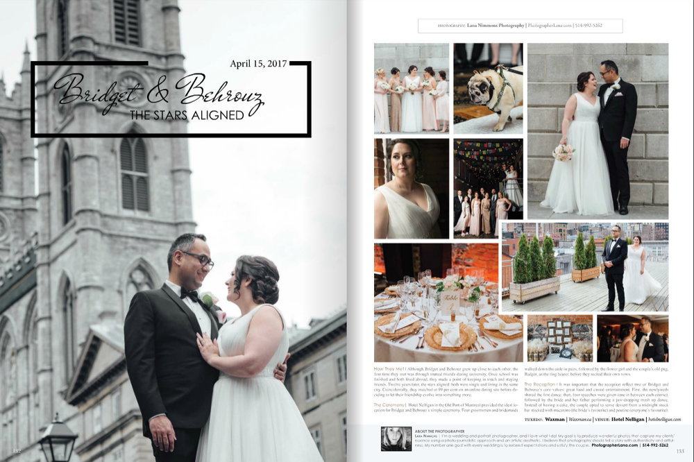 Elegant Wedding Magazine Feature 2017 Old Montreal Hotel Nelligan Florist