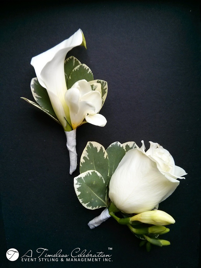 Modern Chic Wedding Ceremony White Flower Boutonniere Le Challenger Montreal