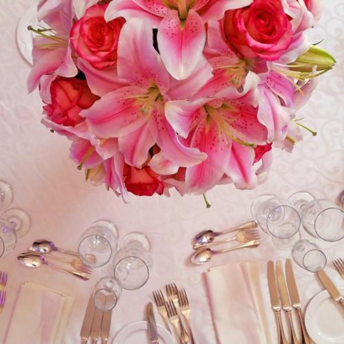Pink Lilies Flower Centerpiece Chateau Vaudreuil Wedding Reception 20150530_134314.jpg