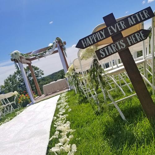 Montreal Outdoor Wedding Ceremony Decorations Hotel Spa Mont Gabriel.jpg