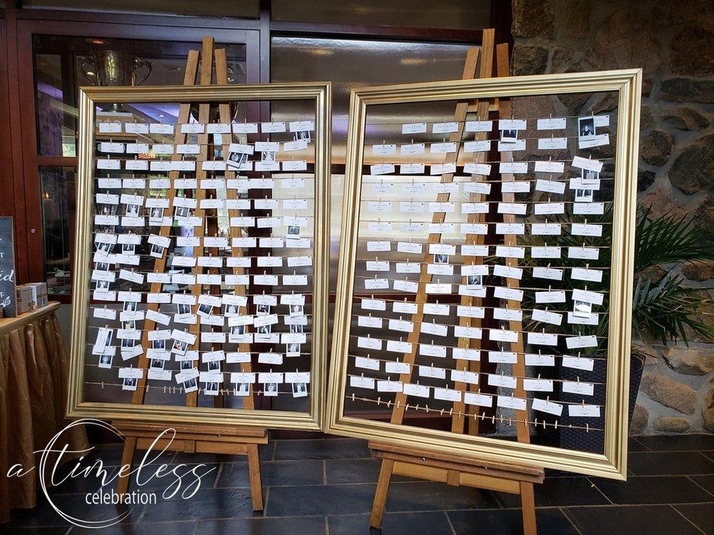 Peach Rustic Wedding at Elm Ridge Golf & Country Club Ile Bizard Montreal Seating Place Card Chart Polaroid Frame 20180901_160602.jpg
