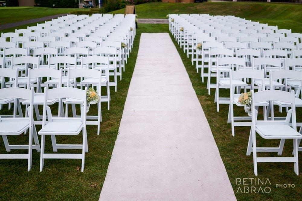 Peach Rustic Wedding at Elm Ridge Golf & Country Club Ile Bizard Montreal Wedding Ceremony Aisle N+J01.jpg