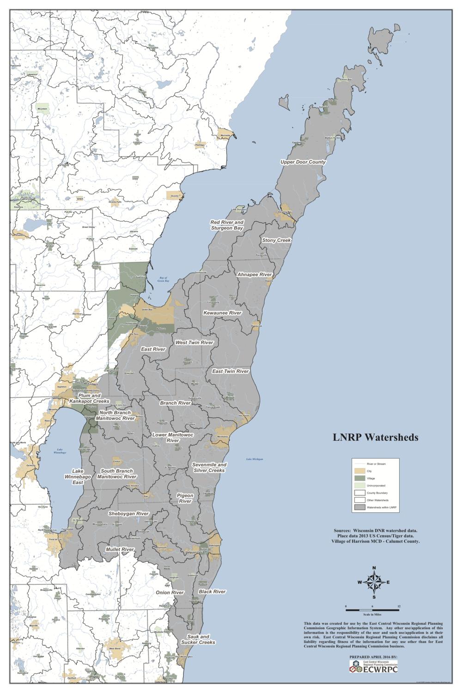 Lakeshore Water Basin Map