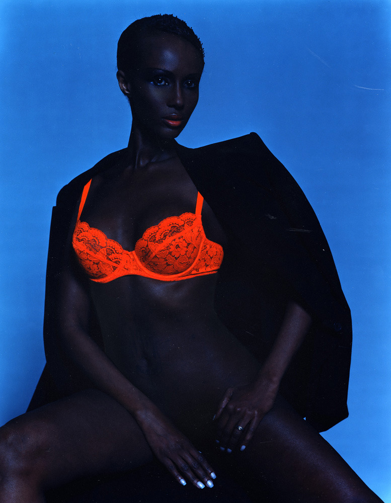 Michel Comte,  Iman, New York 2001