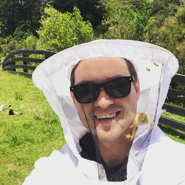 Looks like somebody wanted a selfie with me. #beekeeping