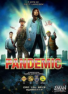 Pandemic - Travel around the world to save humanity.2-4 players (Cooperative)
