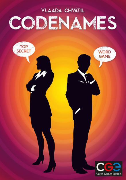 Codenames - Track down secret agents with the aid of your team.2-8 players (Team)