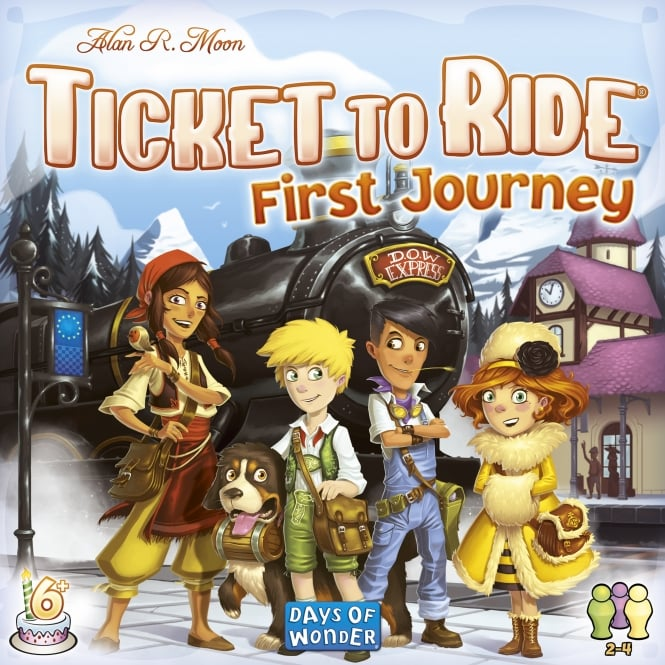 Ticket to Ride First Journey - Form train routes and travel to European capitals2-4 players