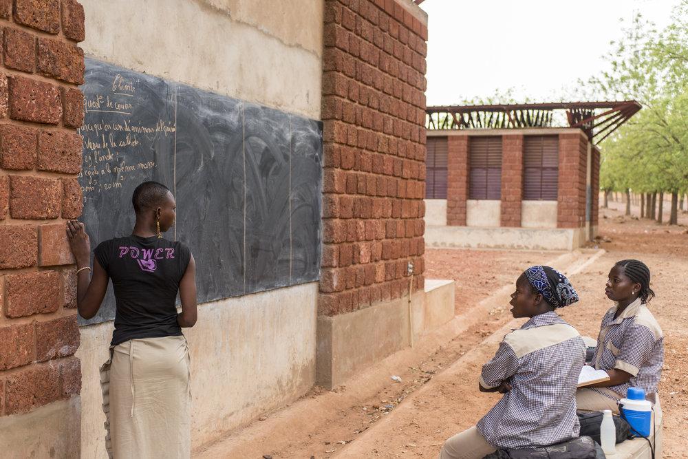 Outdoor teaching area