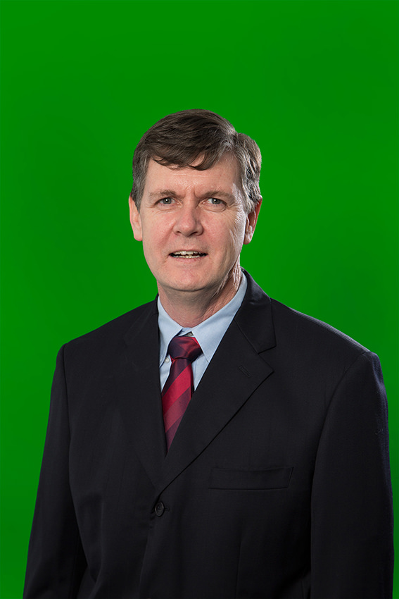 Portrait with green screen