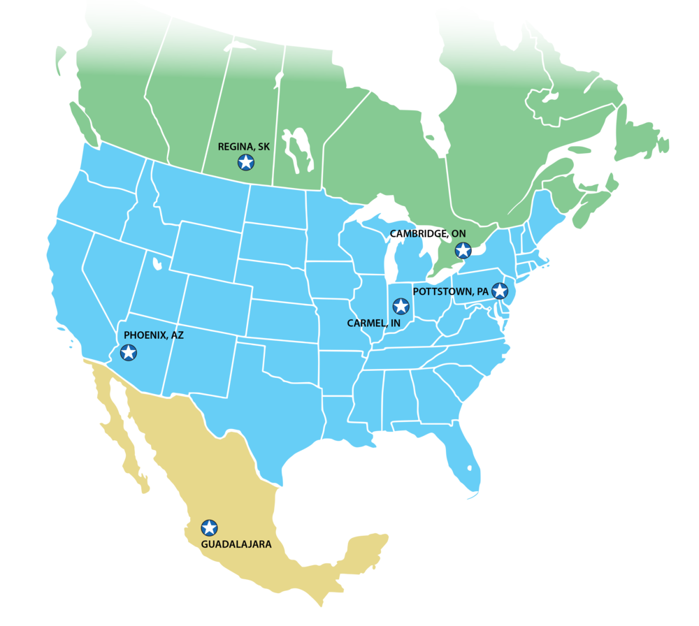 Canada Mexico USA Distribution Map.png
