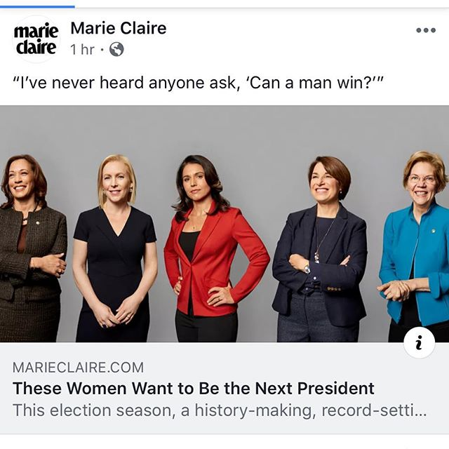 Loving this quote and article from @marieclairemag! #rep19 #womenlead