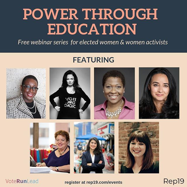"There's still time to register for our first webinar on March 6 with trailblazers Mayor Yvonne Spicer and @voteprochoice CEO and Founder @heidispeaks. Don't miss out! Register today for the ""How to Build Coalitions"" webinar and more! Rep19.com/events (link in bio) #womenlead #womenshistorymonth"