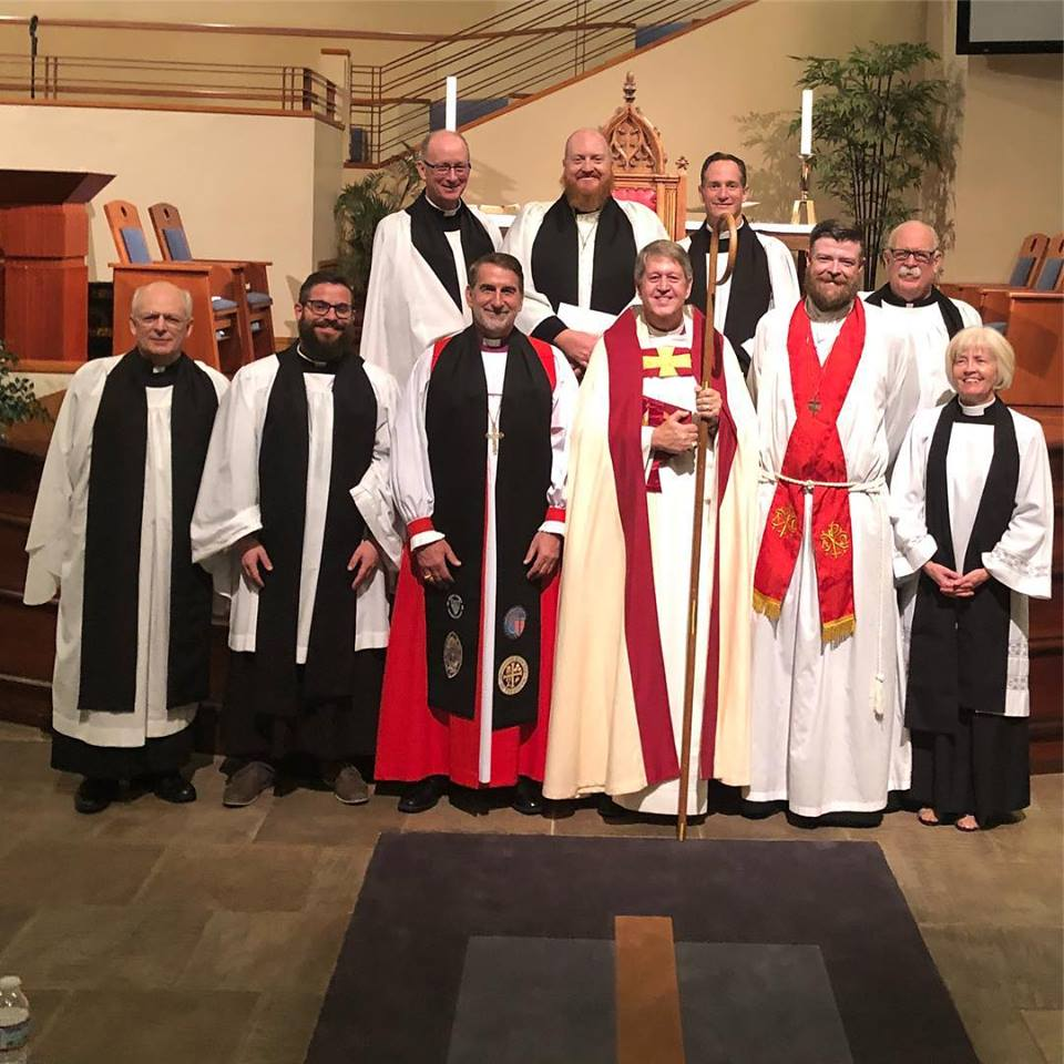 The Clergy of the Rocky Mountain Deanery with Bishop Keith Andrews and Archbishop Foley Beach