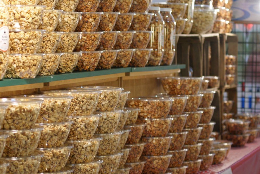 Many popcorn varieties from The Caramel Kettle