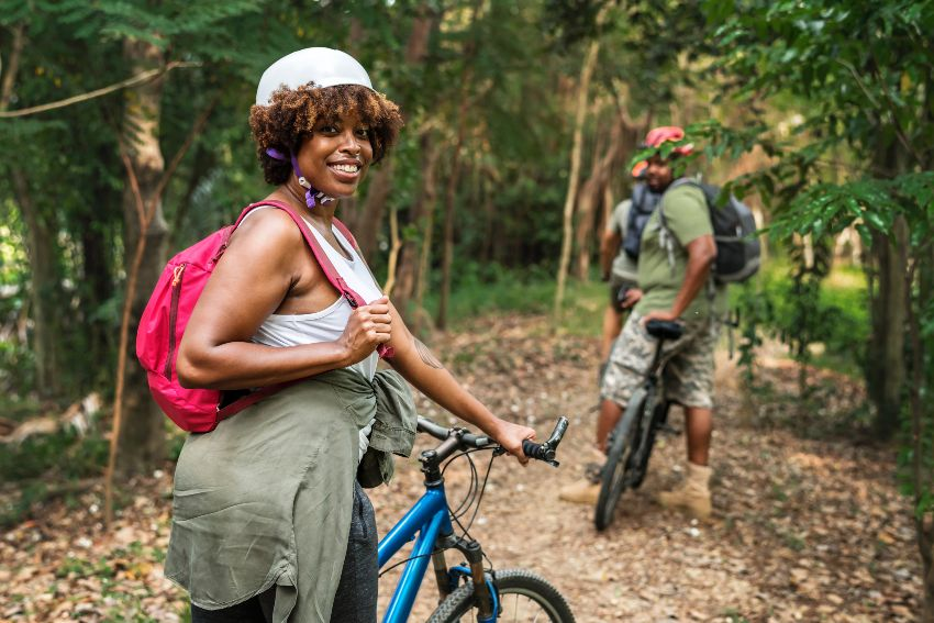 Woman riding a bike stock photo resized.jpg