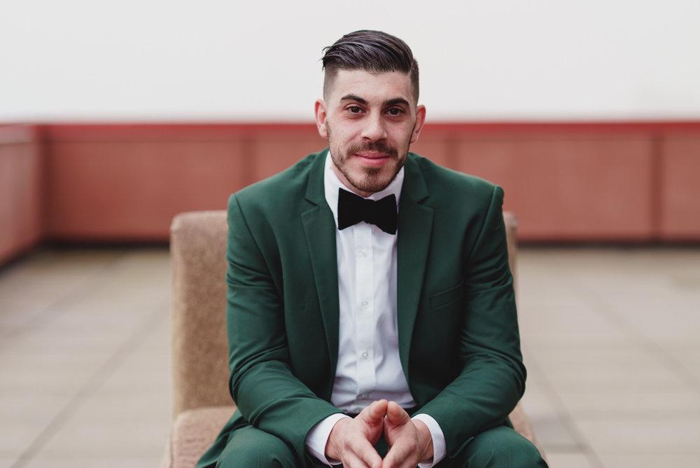 portrait of a groom in jersey city new jersey