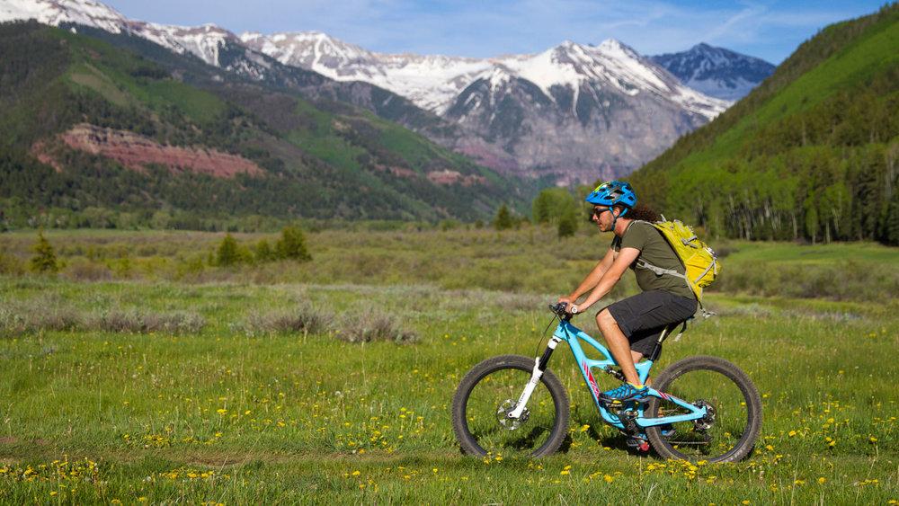 Casual Mountain Biking on Telluride's Valley Floor