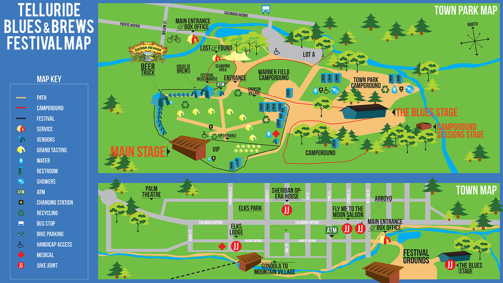 Telluride Blues & Brews Festival   2016 Festival Map