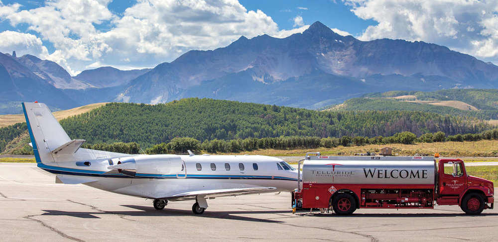 Telluride Regional Airport is North America's highest commercial airport at 9,070 feet above sea level and offers commercial and general aviation services.