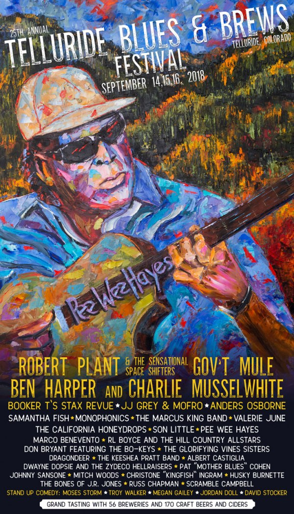 Telluride Blues & Brews Festival | 2018 Poster