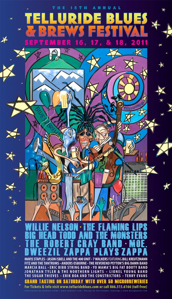 Telluride Blues & Brews Festival | 2011 Poster